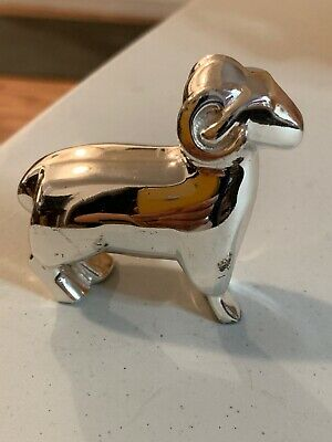 CHRISTOFLE Silver Plated (Animal) Ram Paperweight Beautiful !!