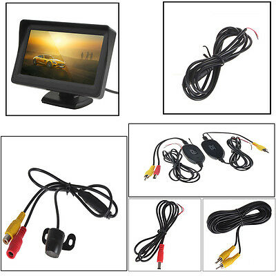 "4.3"" TFT LCD Sunshade Monitor+2.4G IR Wireless Car Parking Backup Camera Kits"