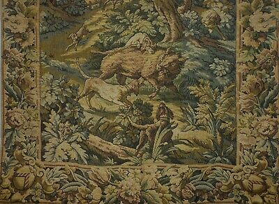 Antique/Vintage French Aubusson Style Chateau Tapestry/ Curtain 275cm x 120cm
