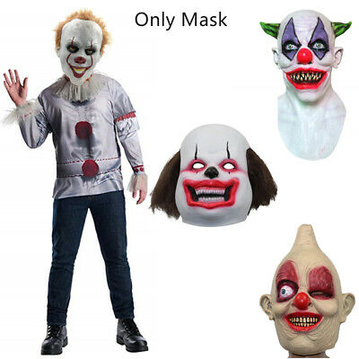 Halloween Horror Clown Mask Latex Stephen King's IT Full Head Mask Cosplay Party