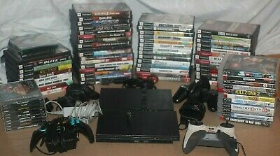 Huge Lot Of PlayStation 1,2,3 (80) Games 2 Consoles two controllers 2 power cord