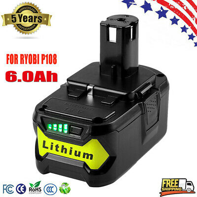 New 4.0Ah 18 VOLT 18V P108 for RYOBI ONE PLUS Lithium-Ion High Capacity Battery
