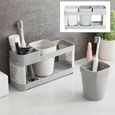Electric Toothbrush Holder Stand Set Shelf Bathroom Toothpaste Storage Rack Hot