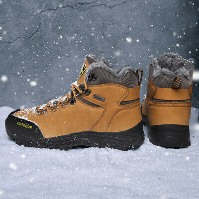 Men's Snow Boots Hiking Shoes Ankle Shoes Winter Warm Walking Casual Waterproof