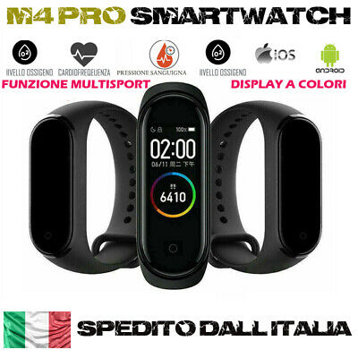 Smartwatch Orologio M4 Smart Band Fitness Tracker Cardiofrequenzimetro Sport