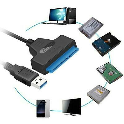 """USB 3.0 To SATA 22 Pin 2.5"""" Hard Laptop Disk Drive SSD Adapter Cable Converter"""