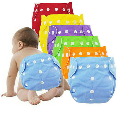 Toddlers Diaper Reusable Washable Babies Nappy Breathable Anti-Leaking Diaper