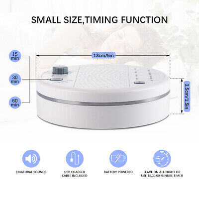 White Noise Therapy Sound Sleep Soothing Relax Machine 13 Nature Sounds Sleep