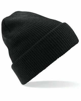 Beechfield Glencoe Beanie Winter Hat B429 Ribbed Warm Knitted Style Size One