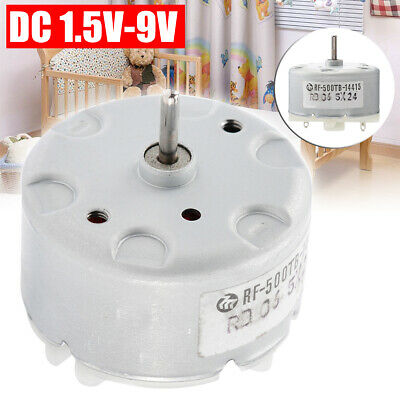 RF-500TB-14415 Mini DC Motor 1.5V-9V 5V 6V 32mm Diameter Round Motor UK Stock