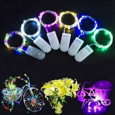 6 Pack 20 LED Battery Micro Rice Wire Copper Fairy String Lights Decor 2M - Sy