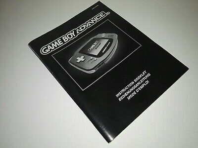 Game boy Advance instruction booklet  AGB-EUR (A)