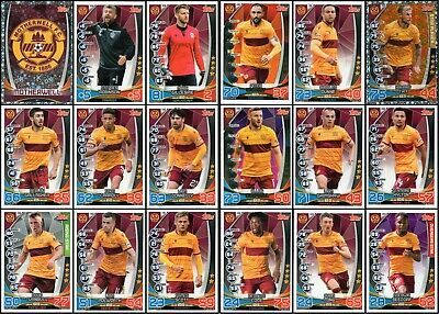 TOPPS SPFL MATCH ATTAX 2019/20 19/20 MOTHERWELL 18 CARD TEAM SET inc BADGE
