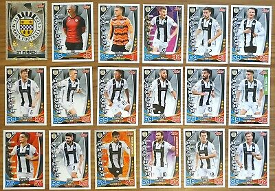 TOPPS SPFL MATCH ATTAX 2019/20 19/20 ST MIRREN 18 CARD TEAM SET inc BADGE