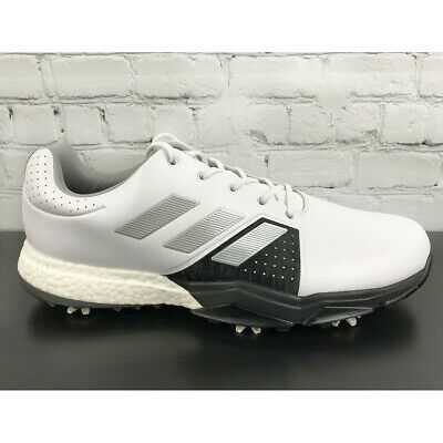 Adidas Mens ADIPOWER BOOST 3 Golf Shoes White / Silver /  Black Size 12 M