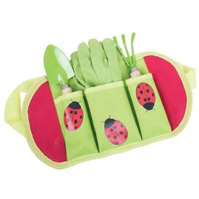 Bigjigs Toys Childrens Garden Tool belt with gloves and 2 mini tools