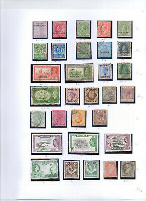 BRITISH COMMONWEALTH     Album page of Mint/Used Stamps (M1001) STC £101