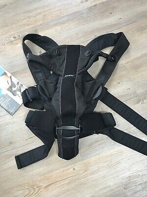BabyBjorn Miracle Baby Carrier, Black Mesh From Newborn