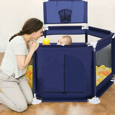 """59""""x26"""" Baby Playpen Kids Safety Home Pen Fence Play Center Yard Indoor Outdoor"""
