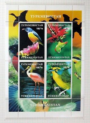 TURKMENISTAN 1999 Beautiful Birds Sheetlet U/M BH470