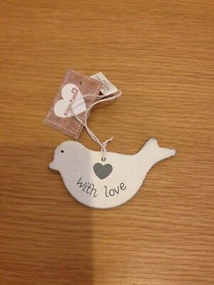 Cream shabby chic dove/ bird gift tag by sass & belle