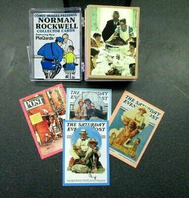 Norman Rockwell COMPLETE 90 card set series 1 (1993) in snap case w/wrapper