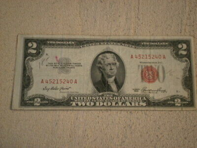 ✯ 1953 Two Dollar Note Red Seal       $2 Bill      US CURRENCY