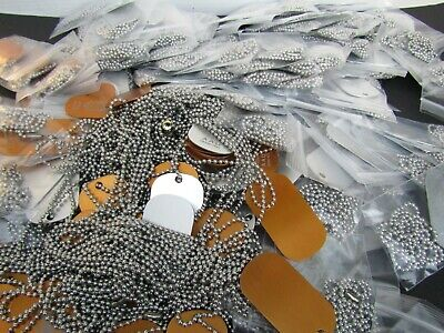 Dog Tag Necklace Lot 180 Stainless Ball Chain Necklaces Jewelry Lot Wholesale