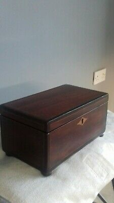 Antique English victorian tea caddy with working lock and key good condition