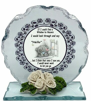 Window to Heaven  Memorial Poem  Crystal Cut Glass Plaque Special Edition #4