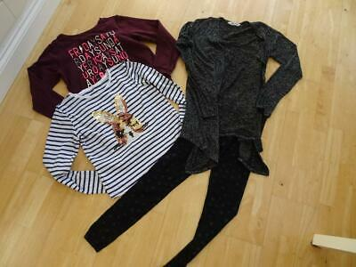 H&M girls 4 pack autumn clothes bundle leggings top jumper AGE 12 - 13 YEARS