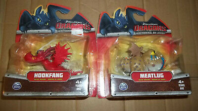 How to Train Your Dragon Defenders of Berk Meatlug & Hookfang Figures Unopened