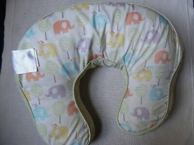 Boppy Pillow with Extra Cover- elephants and sweet peas