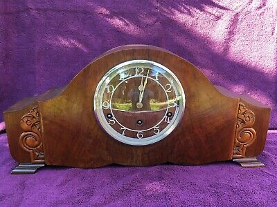 Superb Vintage Antique Garrard Westminster Chime Napoleon Mantel Clock Working