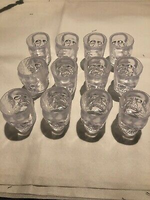 Skull Shape Double Sided 12 Shot Glasses Halloween Tableware Party Decorations