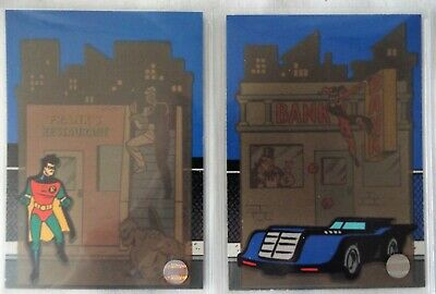 Skybox ADVENTURES of BATMAN & ROBIN Thermal Chase Trading Cards 1995 Lot T2 & T3