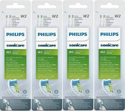 Genuine Philips Sonicare W2 Optimal White Replacement Toothbrush Heads x 8 Heads