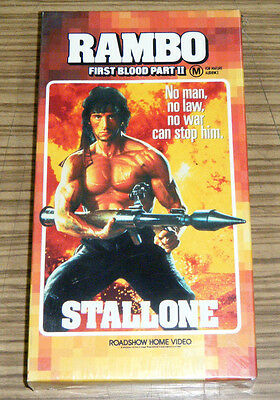 Vintage 1980's New Old Stock Sealed VHS Movie - Rambo First Blood Part II
