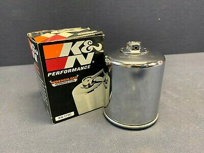 K&N Performance Chrome Oil Filter For Harley Davidson KN-170C