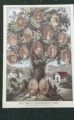 Victorian Trading Co Currier & Ives Family Tree 16 Photo Slots UnFramed 10E