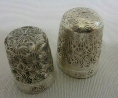 2 VINTAGE  Dorgas Size 5&8 Thimble Sterling Silver,England 1900's, collectable