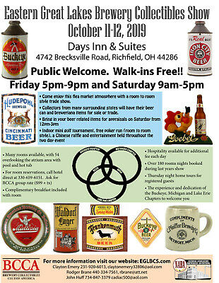 Show Flyer, BCCA & NABA Cleveland Ohio Breweriana Beer Cans Signs Tap Knobs