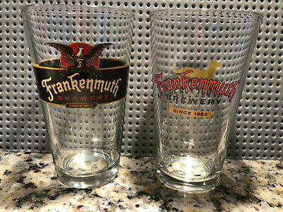 Frankenmuth Brewery Frankenmuth Beer Vintage / Rare Pint Beer Glasses -2 styles!