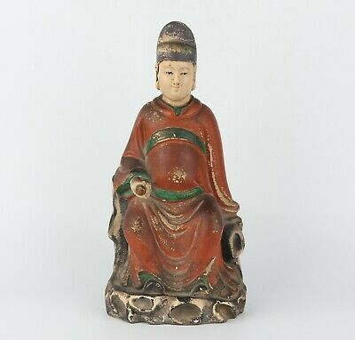 Chinese Exquisite Handmade wood people statue