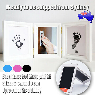 1/2 X Baby Paw Print Foot Photo Frame Touch Ink Pad Baby Keepsakes Souvenir Gift