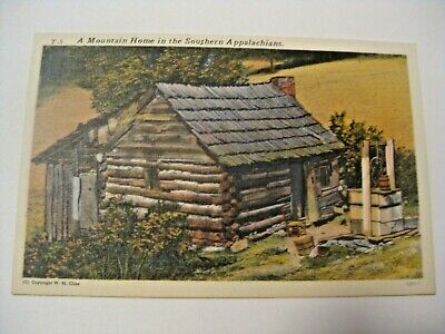 Vintage Mountain Home In Southern Appalachians Mountains Postcard ~See Our Cards