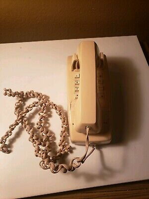 AT&T  Beige Push Button Wall Phone Telephone  Vintage