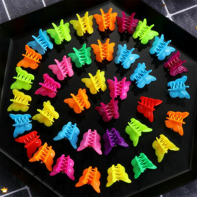 20-100Pcs Butterfly Hair Clips Girls Claws Kids Baby Mini Hairpins Accessories