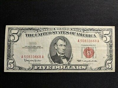 Lot of 2 - $5 FEDERAL RESERVE NOTES - No Reserve! Starts at $9.99 AMAZING!