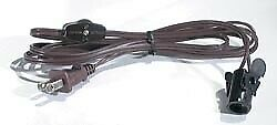 B&P Lamp® Brown Color Cord Set W/Switch And Candelabra Socket